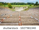Small photo of View Hellenistic Theater at the Archaeological Site of Dion. Pieria, Macedonia, Greece
