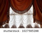 window curtains and drapes in... | Shutterstock . vector #1027585288