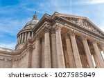 low level view on pantheon with ... | Shutterstock . vector #1027585849