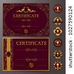set of elegant templates of...   Shutterstock .eps vector #1027590124