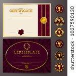 set of elegant templates of...   Shutterstock .eps vector #1027590130