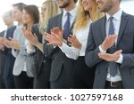 blurred image of business team... | Shutterstock . vector #1027597168