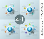 bundle of round diagrams with... | Shutterstock .eps vector #1027598584