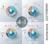 collection of circular charts... | Shutterstock .eps vector #1027598590