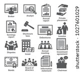 business management icons pack... | Shutterstock .eps vector #1027601029