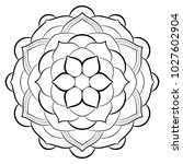 contour mandala for color book. ... | Shutterstock .eps vector #1027602904