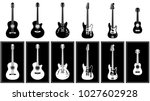Various Guitars Set Vector...