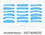 set of retro style ribbon... | Shutterstock .eps vector #1027604020