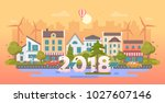 eco city   modern flat design... | Shutterstock .eps vector #1027607146