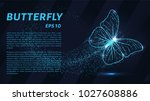 the butterfly consists of... | Shutterstock .eps vector #1027608886
