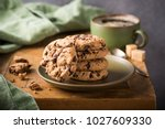 Chocolate Chip Cookies On Gree...