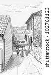 croatia town street  ... | Shutterstock . vector #102761123