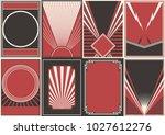 vector black red white... | Shutterstock .eps vector #1027612276