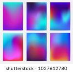 screen gradient set. ... | Shutterstock .eps vector #1027612780