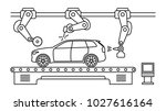 thin line style car assembly... | Shutterstock .eps vector #1027616164