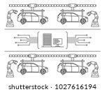 thin line style car assembly... | Shutterstock .eps vector #1027616194