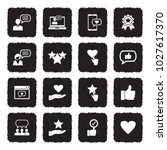 feedback and review icons.... | Shutterstock .eps vector #1027617370