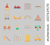 icons about amusement park with ... | Shutterstock .eps vector #1027619170