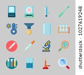 icons about laboratory with... | Shutterstock .eps vector #1027619248