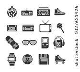 vector image set of retro 80s...   Shutterstock .eps vector #1027621426