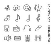 vector image set of music line... | Shutterstock .eps vector #1027621429
