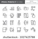 personal hygiene pixel perfect... | Shutterstock .eps vector #1027625788