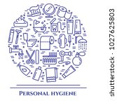 personal hygiene banner with... | Shutterstock .eps vector #1027625803
