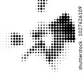 spotted black and white grunge...   Shutterstock . vector #1027626109