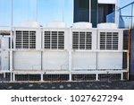 industrial steel air... | Shutterstock . vector #1027627294