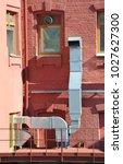 industrial steel air... | Shutterstock . vector #1027627300