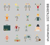 icons about human with... | Shutterstock .eps vector #1027628488