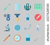 icons about laboratory with... | Shutterstock .eps vector #1027628530