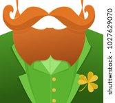 kiss me im irish.saint patrick... | Shutterstock .eps vector #1027629070