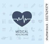 medical flat vector background... | Shutterstock .eps vector #1027629379