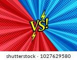 comic versus bright background... | Shutterstock .eps vector #1027629580