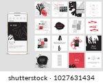 editable simple corporate posts ... | Shutterstock .eps vector #1027631434