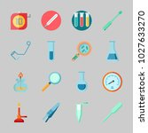 icons about laboratory with... | Shutterstock .eps vector #1027633270