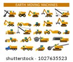 earthmoving machines.... | Shutterstock .eps vector #1027635523