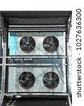 industrial steel air... | Shutterstock . vector #1027636300