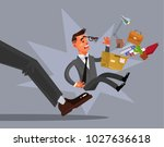 sad unhappy loser fired man... | Shutterstock .eps vector #1027636618