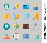 icons about business with bar... | Shutterstock .eps vector #1027637878