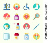 icons about medical with loupe  ... | Shutterstock .eps vector #1027637884