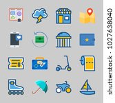 icons about travel with storm ... | Shutterstock .eps vector #1027638040
