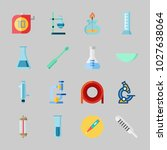 icons about laboratory with... | Shutterstock .eps vector #1027638064