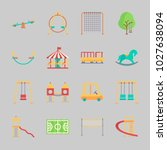 icons about amusement park with ... | Shutterstock .eps vector #1027638094