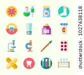 icons about medical with test... | Shutterstock .eps vector #1027638118