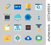 icons about seo with cloud ... | Shutterstock .eps vector #1027640014