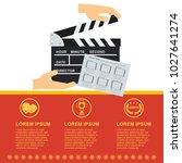 cinema concept poster template...   Shutterstock .eps vector #1027641274