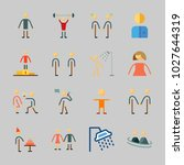icons about human with female ... | Shutterstock .eps vector #1027644319