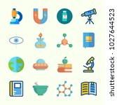 icons about science with open... | Shutterstock .eps vector #1027644523